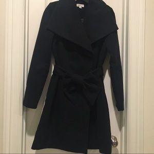 Barney's New York Melton Black Wrap jacket 🧥